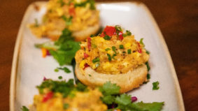 How to make Chubby's Jamaican Kitchen's saltfish and ackee bites