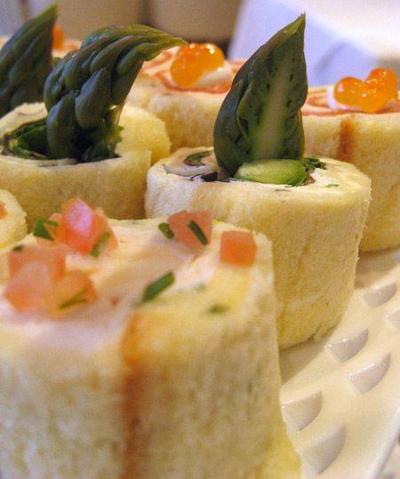 Tea Sandwiches With Cream Cheese And Asparagus Recipe — Dishmaps