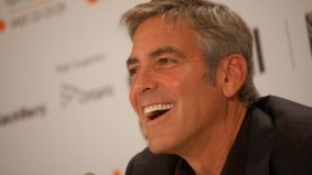 We chat with George Clooney at last night's Men Who Stare at Goats after party on the Bridle Path