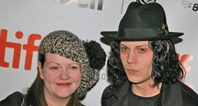 The White Stripes under dimmed West Queen West lights: Jack and Meg hit the Beaconsfield