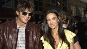 Demi Moore requests non-alcoholic beer and Ashton Kutcher plays a paparazzi prank at Ame