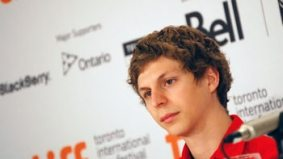 Michael Cera dishes on the status of the Arrested Development movie to a press conference with a paltry attendance of 10