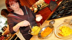 In the testing kitchen with Lucy Waverman