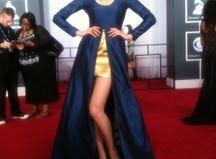 Coco Rocha debuts her Rococo clothing line at Grammys