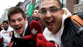 Toronto's supply of Olympic red mittens is almost sold out