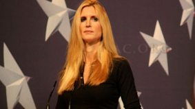 Ann Coulter comes to Ontario to tell us gay men throw like girls, can't marry