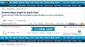 """Toronto Star can't decide if city's dismal Earth Hour showing is """"bright"""" or """"dark"""""""