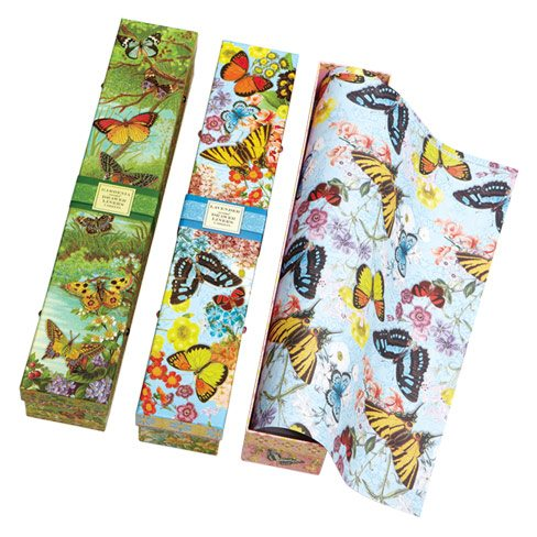 Scented paper liners (lavender, gardenia and plumeria) are aromatherapy for unmentionables. $13 a box. HomeSense, 195 Yonge St., 416-941-9185.
