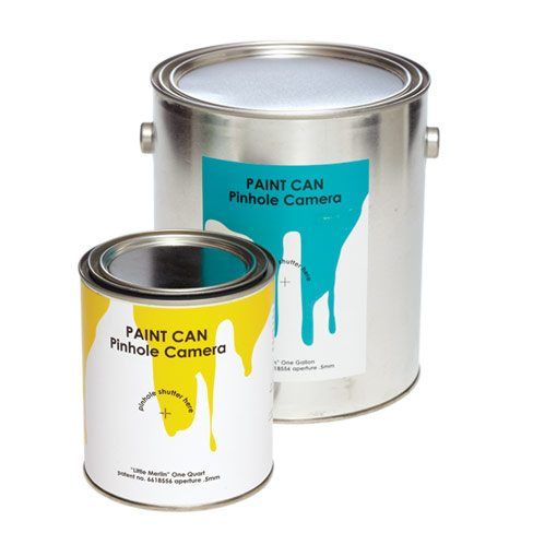 Retro, DIY and trompe l'oeil trends converge with this pinhole camera kit in a paint can. Gallon $23, quart $18. Pikto, 55 Mill St., Bldg. 59, Ste. 103, 416-203-3443.