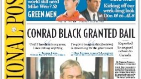 Mothers, lock up your publicly traded companies: Conrad Black gets bail