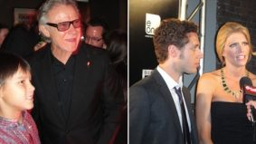 One last after party: hanging out with Harvey Keitel, Jason Jones and Tricia Helfer