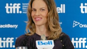 TIFF PHOTO GALLERY: Hilary Swank and the woman she portrays at the Conviction press conference