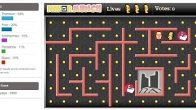 Some geniuses have turned the mayoral election into a Pac-Man-like video game