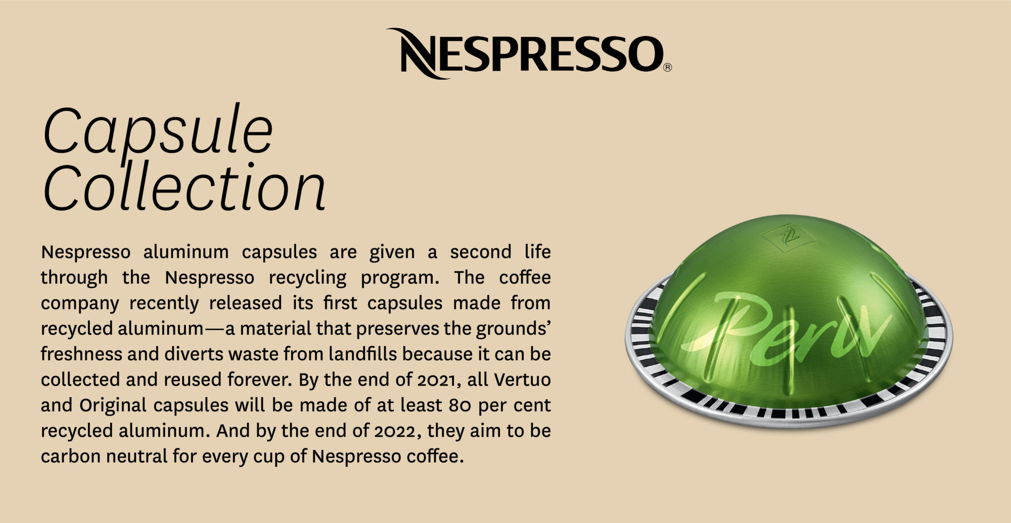 About the Nespresso recycling program