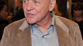 Guests ogle Anthony Hopkins at the George Christy luncheon