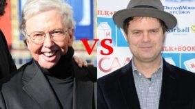 Fight! Roger Ebert takes on Rainn Wilson in a tweet-off moderated by Dan Levy