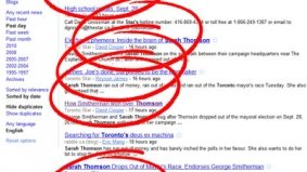 Toronto Star really, really, really wants you to know Thomson has left the mayoral race