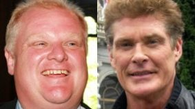 "Rob Ford, David Hasselhoff make ""unsexiest men alive"" list"