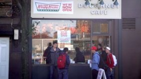 Krispy Kreme is open for business at Bathurst and Harbord