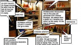 Inside the fridge of Anthony Walsh, Canoe's executive chef