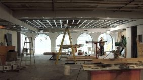 A peek inside the construction of Salad King's new digs