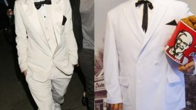 Grammy fashion faceoff: Justin Bieber vs. Colonel Sanders