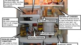 Inside the fridge of Mark Cutrara, executive chef and co-owner of Cowbell