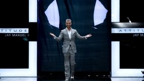 Jay Manuel shows attitude at a Sears show on night three of LG Fashion Week