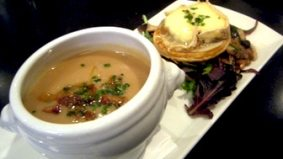 Weekly Lunch Pick: a sumptuous tart with an earthy soup
