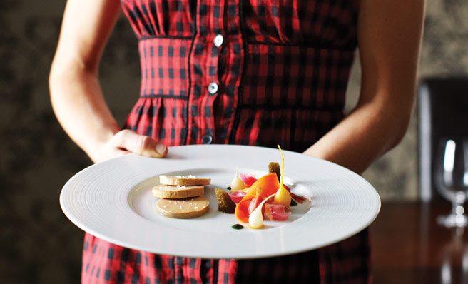 A carefully prepared plate at Quatrefoil