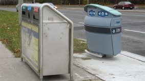 Astral Media finally admits that its sidewalk rubbish bins are garbage