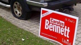 Vandalism of Liberal signs and cars hits four Toronto ridings