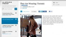 Women's Wear Daily sort of applauds Toronto fashion