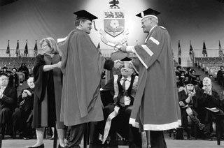 Woody Harrelson receiving his honourary doctorate at York University