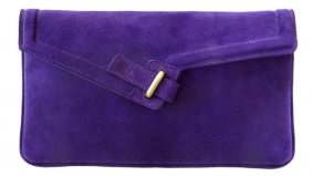 The Find: a purple envelope clutch that will carry a woman's day-to-day essentials