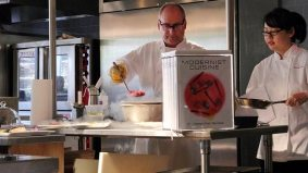 Check out liquid nitrogen–poached doughnuts and other molecular miracles from a recent Modernist Cuisine demo