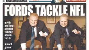 At the CFL's 100th birthday bash, the Brothers Ford crash the party and talk NFL again