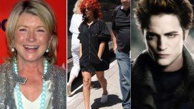 SPOTTED: Martha Stewart eats, Rihanna walks and Robert Pattinson drinks