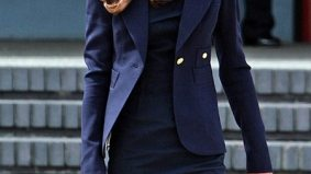 The Royal Visit: Kate Middleton wears a navy blazer, but it is Canadian