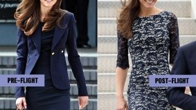 The Royal Visit: Kate Middleton has a (possibly scheduled) outfit change mid-flight