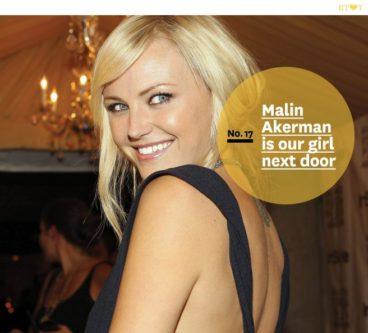No. 17, Malin Akerman is our girl next door