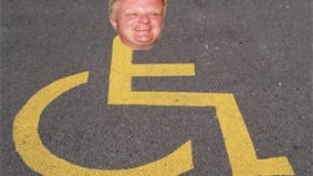 Rob Ford wages his own war on the car—no, really: he thinks cars illegally parked in handicapped spots are bad