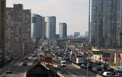 City traffic in Toronto is notorious.