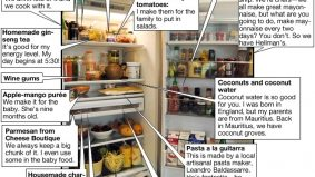 Inside the meticulously organized fridge of David Lee, the co-owner and chef at Nota Bene