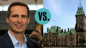 Dalton McGuinty tries a new election tactic: run against Ottawa, remind everyone of the federal Liberal shellacking