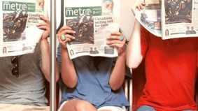 How that disposable pamphlet of infotainment that's an inescapable part of our daily commute—a.k.a. Metro—is now the most-read paper in the country