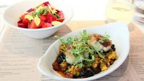 Weekly Lunch Pick: a pretty beet salad and a pair of seared scallops at O&B Canteen
