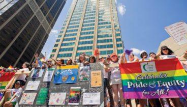 July 3, 2:18 p.m., Pride parade, Yonge and Bloor