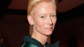 Tilda Swinton leaves before dinner at the We Need to Talk About Kevin dinner at Grey Goose Soho House
