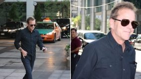 SPOTTED: Kiefer Sutherland at the Ritz-Carlton